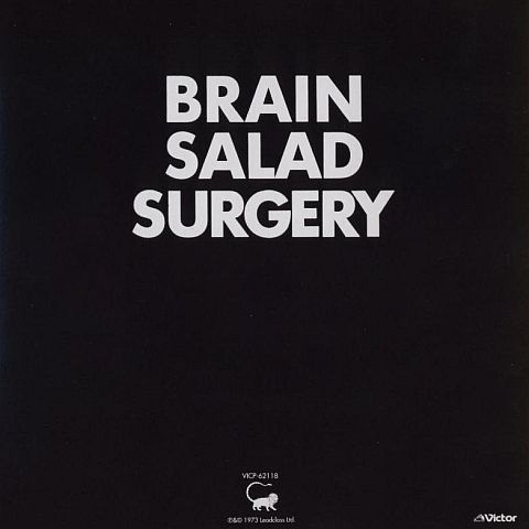 Back cover, Emerson, Lake + Palmer - Brain Salad Surgery