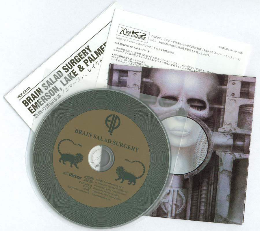 CD, poster (folded) and inserts, Emerson, Lake + Palmer - Brain Salad Surgery