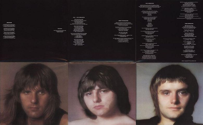 Open poster back, Emerson, Lake + Palmer - Brain Salad Surgery