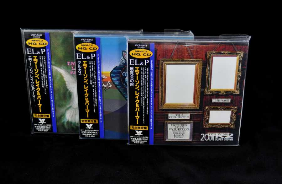 The first true mini LPs, Emerson, Lake + Palmer - First True Japanese Mini LP Rock Release