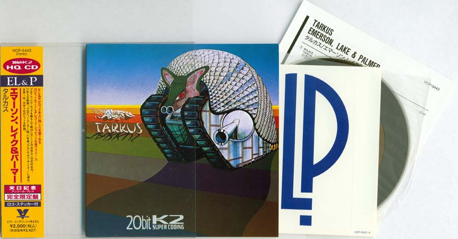 Obi, slipcase, CD etc, Emerson, Lake + Palmer - Tarkus