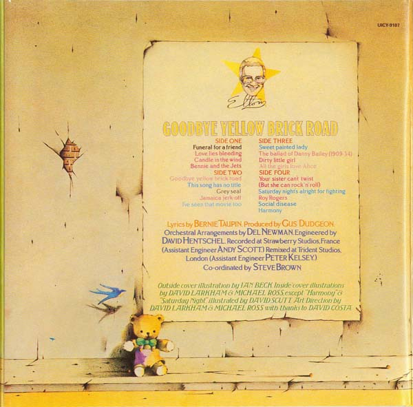 Back cover, John, Elton - Goodbye Yellow Brick Road