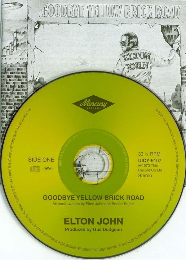 CD and Insert, John, Elton - Goodbye Yellow Brick Road