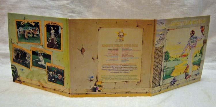 Fully opened gatefold cover, John, Elton - Goodbye Yellow Brick Road