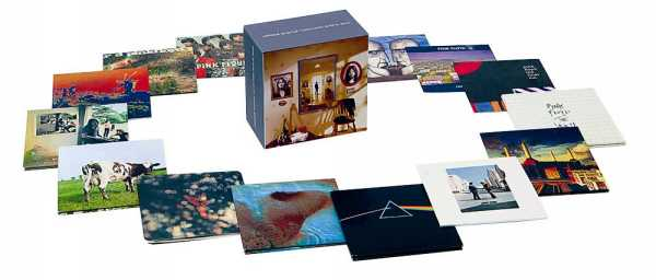 EMI Prototype(?) box spread - image from pre-release promotional material, Pink Floyd - Oh By The Way: European Box Set