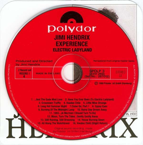 CD on top of standard inner, Hendrix, Jimi - Electric Ladyland (UK Naked Ladies)