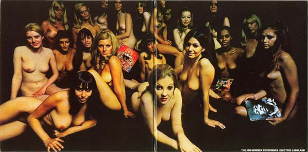 Gatefold opened out, Hendrix, Jimi - Electric Ladyland (UK Naked Ladies)