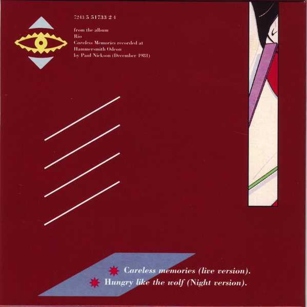 CD5 Sleeve [Back], Duran Duran - The Singles 81-85 Boxset