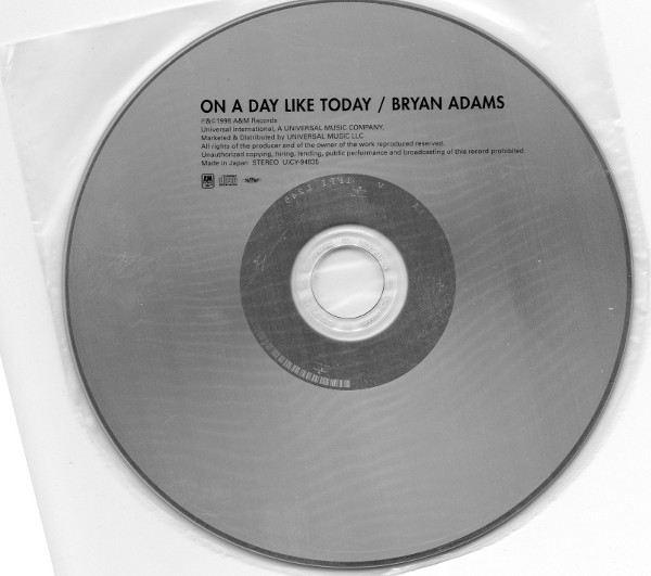 Cd, Adams, Bryan - On A Day Like Today (+3)