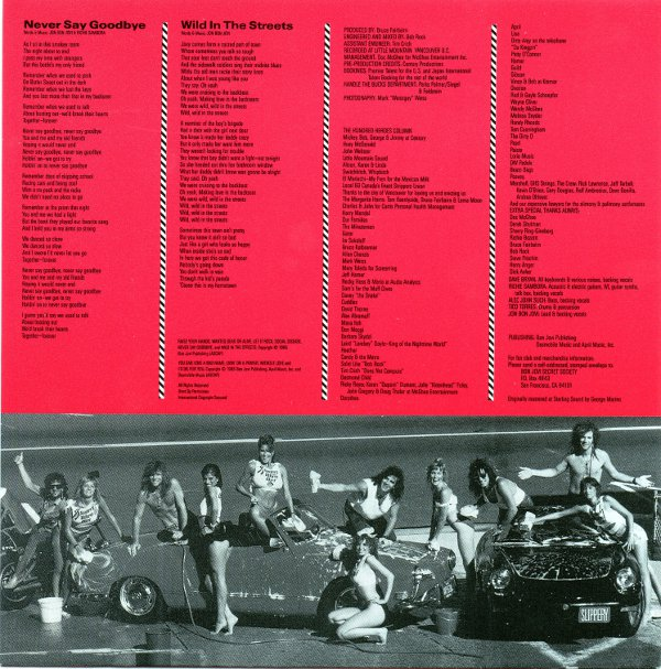 back inner sleeve, Bon Jovi - Slippery When Wet