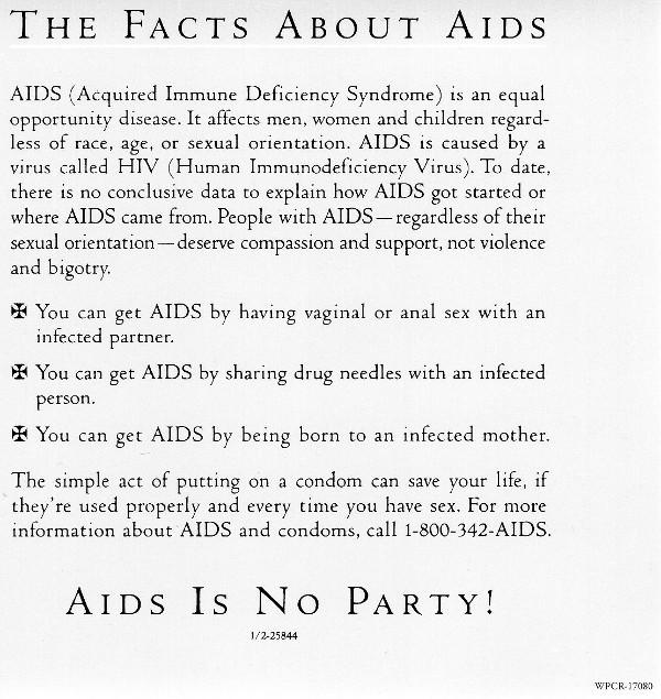 AIDS flyer, Madonna - Like A Prayer