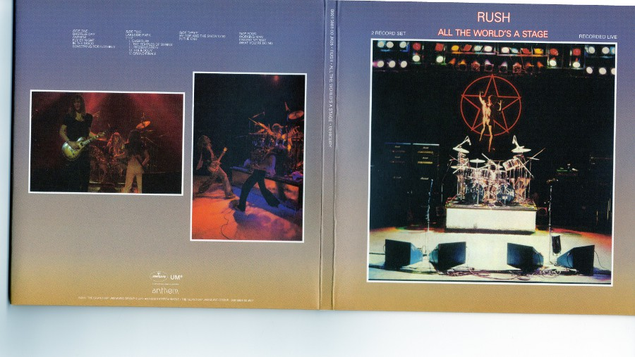Outside triple gatefold front part and middle part, Rush - Sector 1