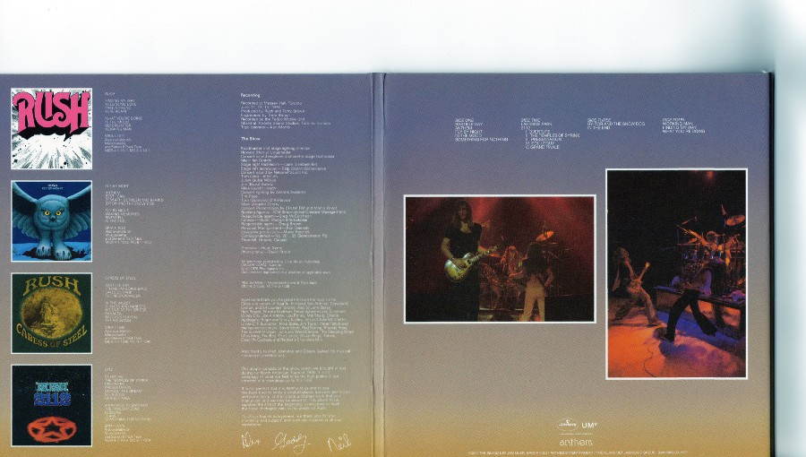 Outside triple gatefold middle part and last part, Rush - Sector 1