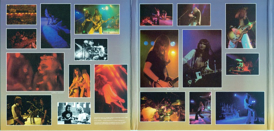 Inside triple gatefold first and middle part, Rush - Sector 1