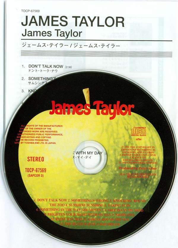 CD and insert, Taylor, James - James Taylor