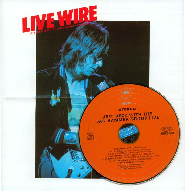 Poster (front) (cropped), Beck, Jeff - With The Jan Hammer Group Live (aka Live Wire)
