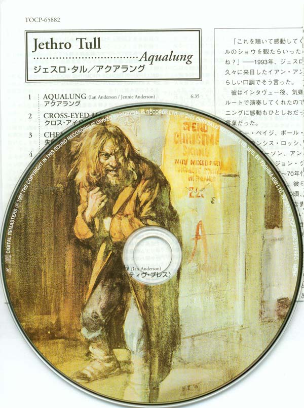 CD and inserts, Jethro Tull - Aqualung +6