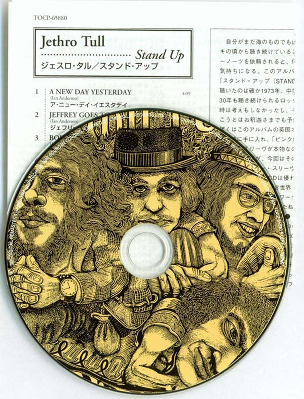 Inserts and CD, Jethro Tull - Stand Up [+4]