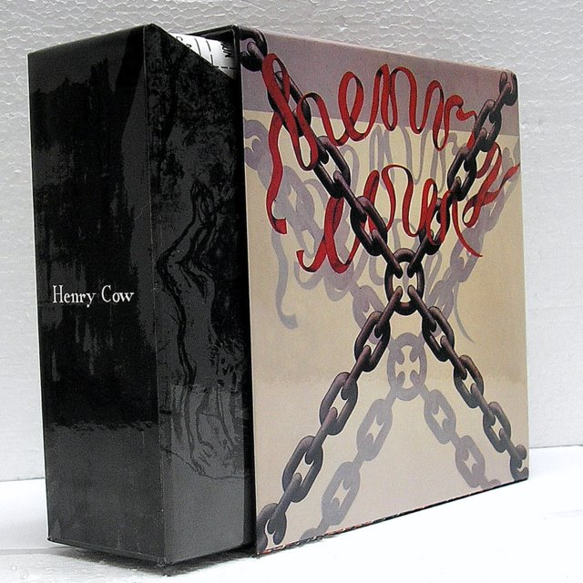Back side view, Henry Cow - Legend Box