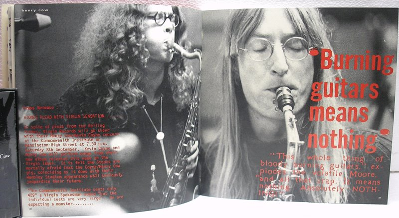 Henry Cow Pictures from Virgin Records Book, Henry Cow - Legend Box