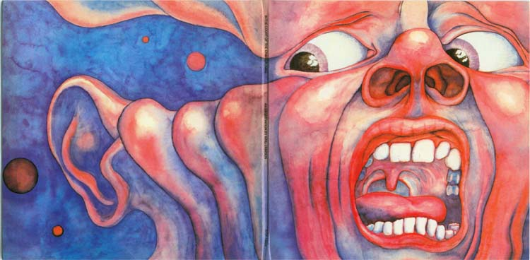 Open gatefold cover, King Crimson - In The Court Of The Crimson King