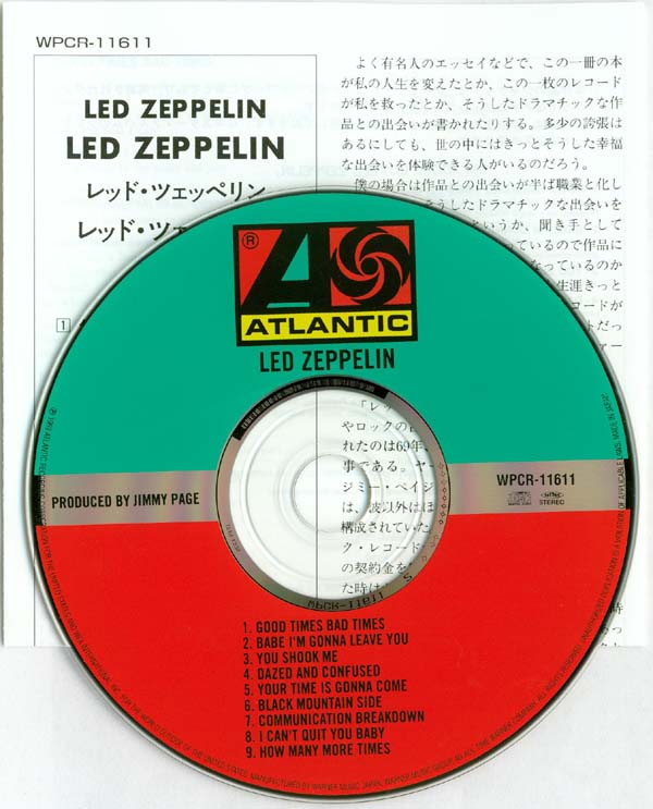 CD and lyric sheet, Led Zeppelin - Led Zeppelin
