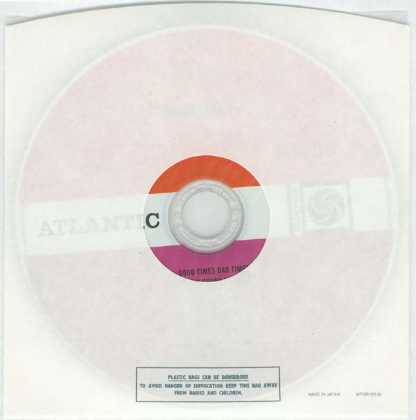 CD inside paper and plastic bag, Led Zeppelin - Led Zeppelin