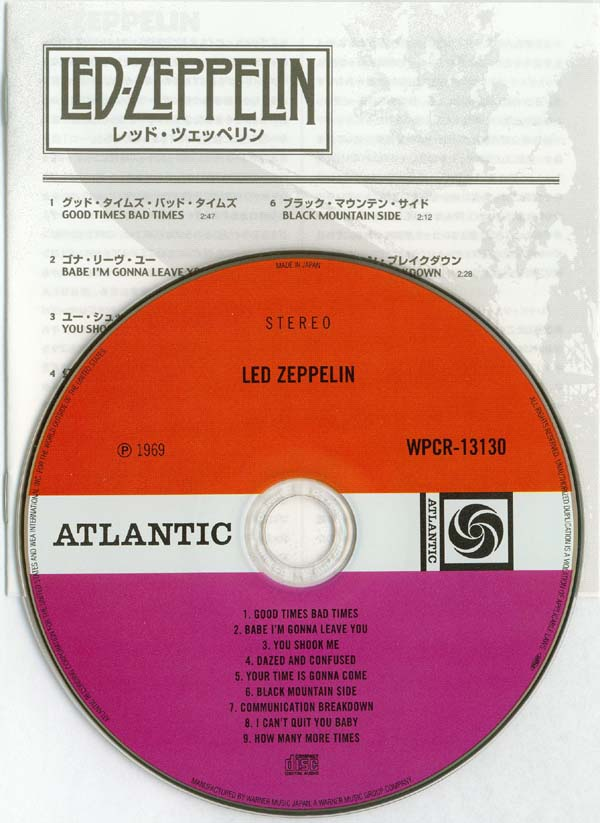 CD and booklet, Led Zeppelin - Led Zeppelin