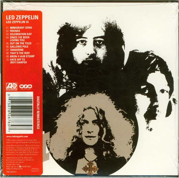 Back cover (with sticker on shrink wrap), Led Zeppelin - III