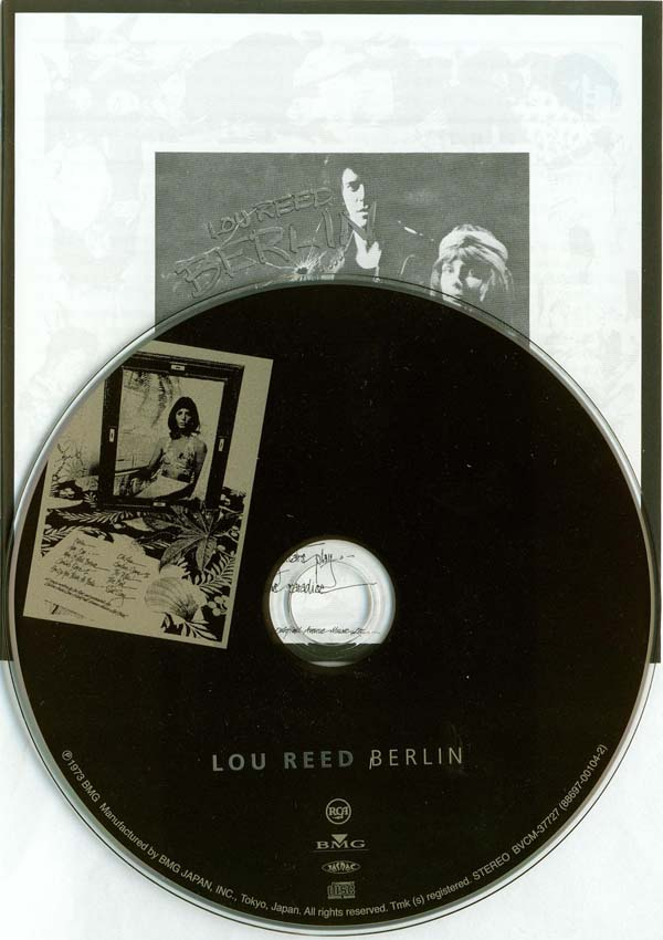 CD and additional black and white booklet, Reed, Lou - Berlin