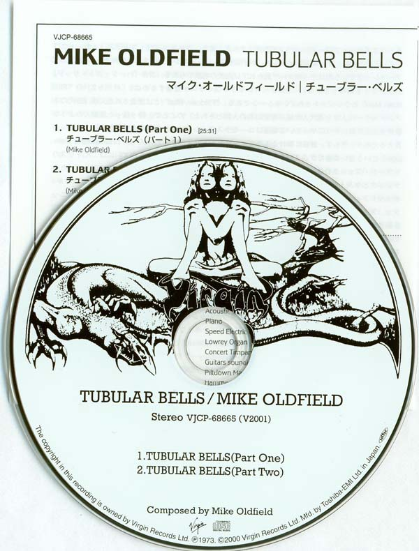 Mike Oldfield - Tubular Bells - CD and insert, Oldfield, Mike - Tubular Bells