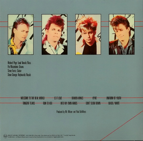back cover, Mr.Mister - Welcome To The Real World