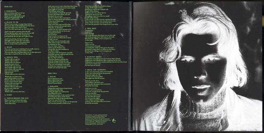 Inside gatefold cover, Drake, Nick - Pink Moon