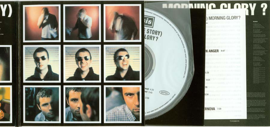 CD, inner and lyric booklet loaded into the centre, Oasis - (What's the Story) Morning Glory