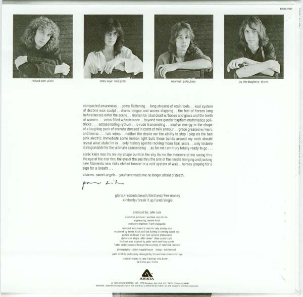 Back cover, Smith, Patti - Horses +1