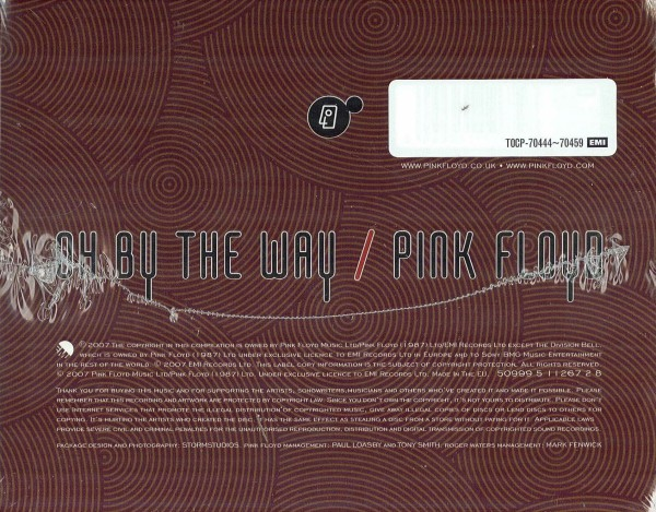 Bottom of box (sticker on bar code), Pink Floyd - Oh By The Way: Japanese Repackage