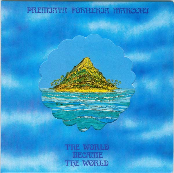 Cover with die-cut pop-out removed and insert visible, Premiata Forneria Marconi (PFM) - The World Became The World