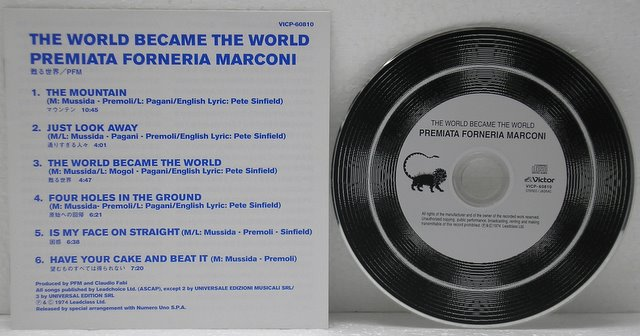 Lyric Booklet and CD, Premiata Forneria Marconi (PFM) - The World Became The World