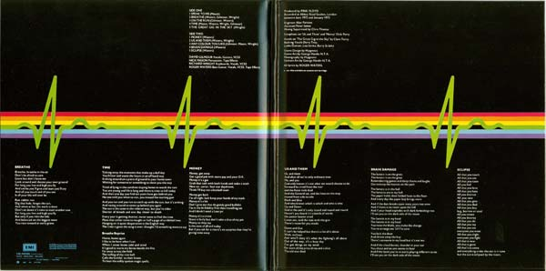 Inside gatefold cover, Pink Floyd - The Dark Side Of The Moon