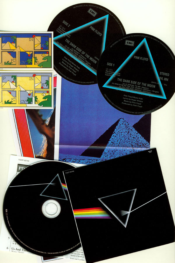 CD and inserts, Pink Floyd - The Dark Side Of The Moon