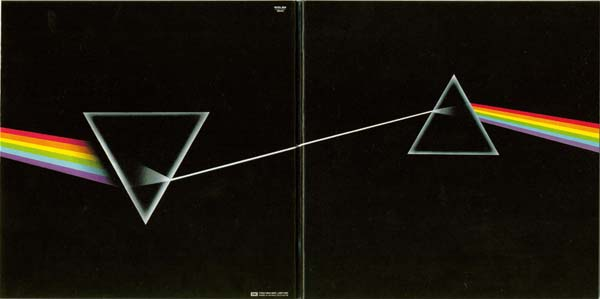 Open gatefold cover, Pink Floyd - The Dark Side Of The Moon