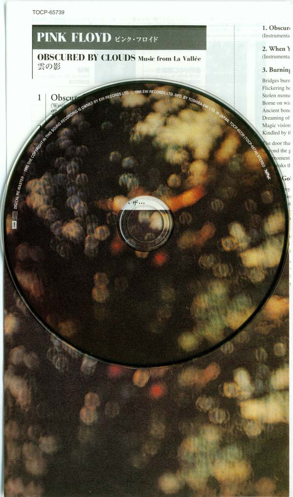 CD and inserts, Pink Floyd - Obscured By Clouds