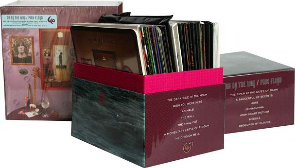 Open box showing outside spine, Pink Floyd - Oh By The Way: European Box Set