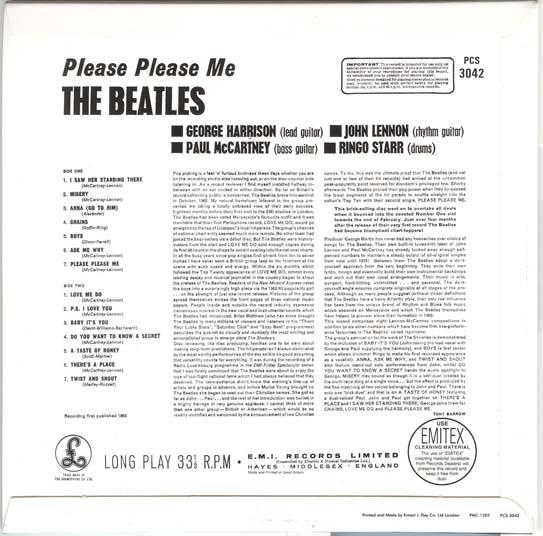 , Beatles (The) - Please Please Me