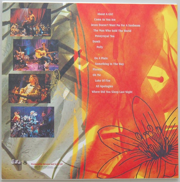 Back cover, Nirvana - MTV Unplugged In New York