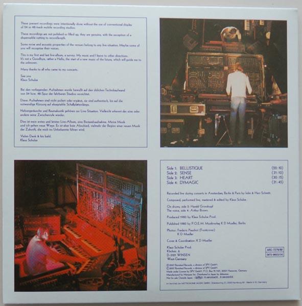 Back cover, Schulze, Klaus  - Live