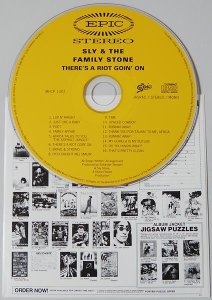 CD, Sly + The Family Stone - Theres A Riot Goin On +6