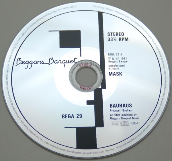 CD, Bauhaus - Mask