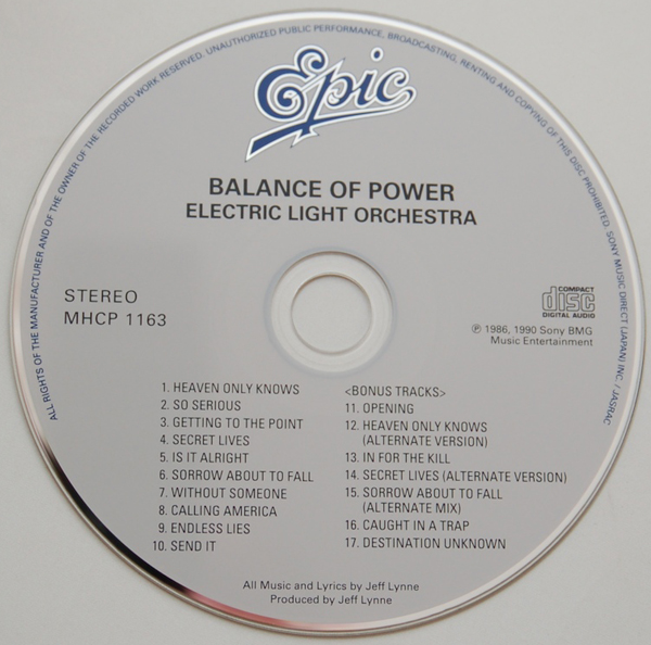 CD, Electric Light Orchestra (ELO) - Balance Of Power