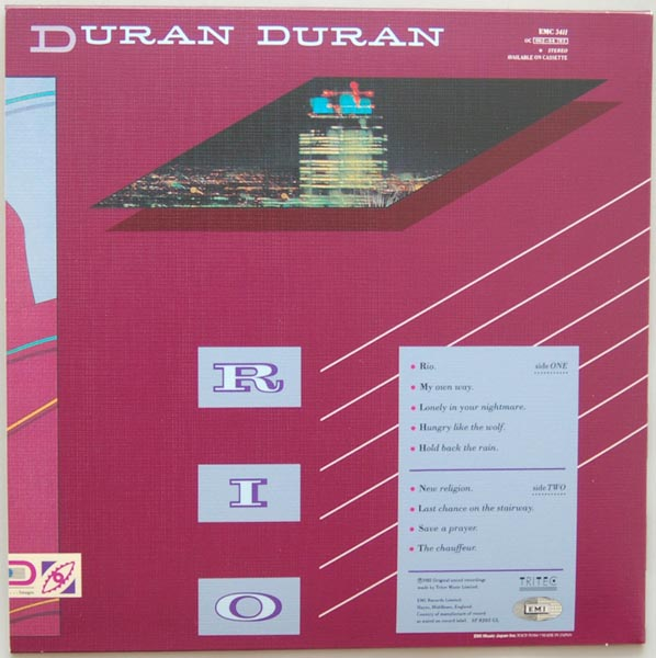 Back cover, Duran Duran - Rio